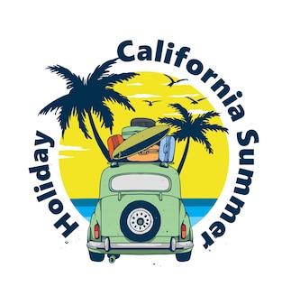 Wakacje na plaży w kalifornii