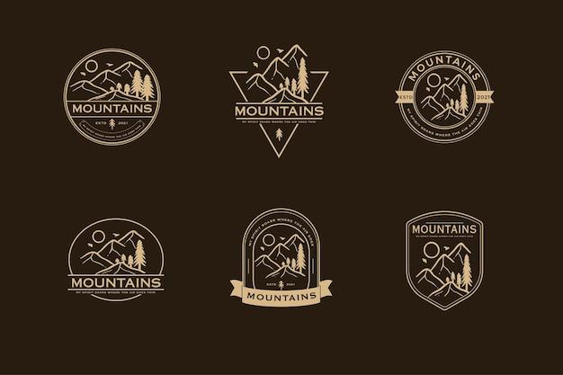 Wakacje Na świeżym Powietrzu Na Letnim Wektorze Logo Premium Wektorów