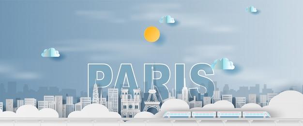 Wakacje wieża eiffla paryż miasto francja