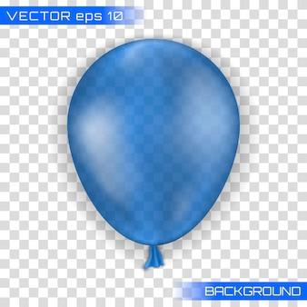 Wakacyjna ilustracja latający glansowany balon.