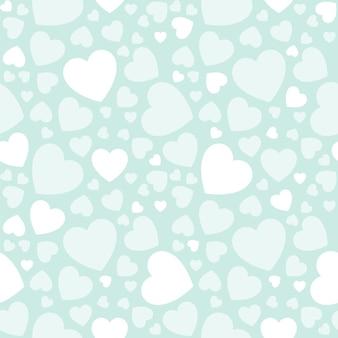Wakacyjny baner z białymi sercami