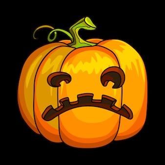 Wakacyjny halloweenowy dyniowy jack lantern.