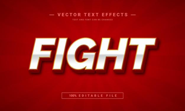 Walcz z edytowalnym szablonem efektu tekstowego 3d