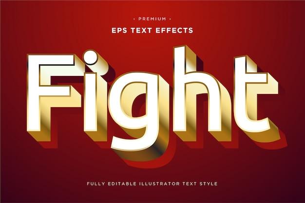 Walcz z efektem tekstowym 3d - styl tekstu 3d