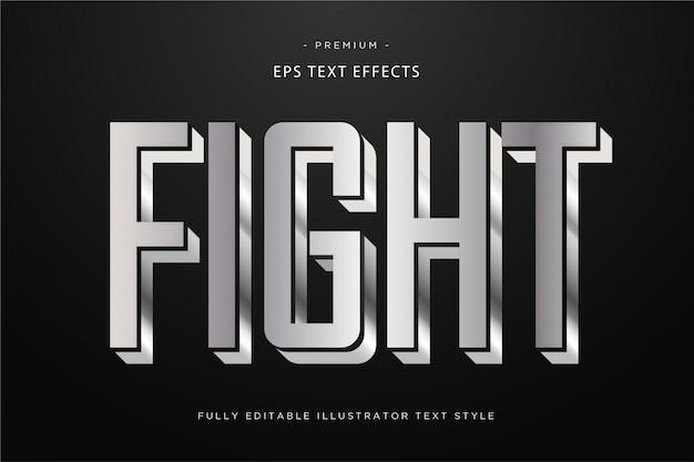 Walcz z metalicznym efektem 3d tekstu