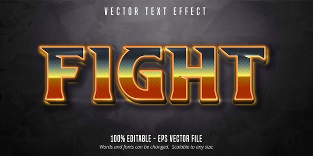 Walcz z tekstem, efekt edycji tekstu w błyszczącym świetle