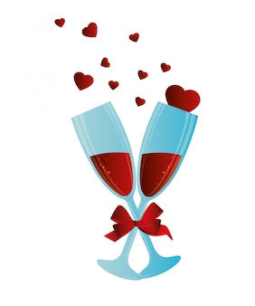 Walentynka dnia projekt, wektorowa ilustracja.