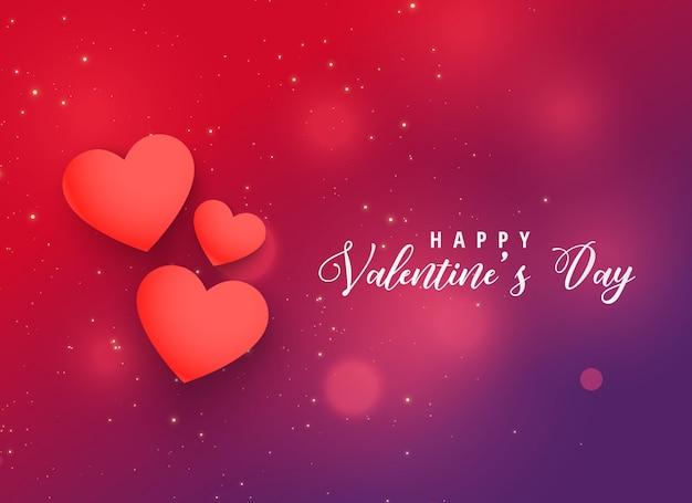 Walentynka dnia serc projekta czerwony tło