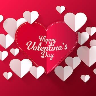 Walentynka dzień projekt z papierowymi sercami