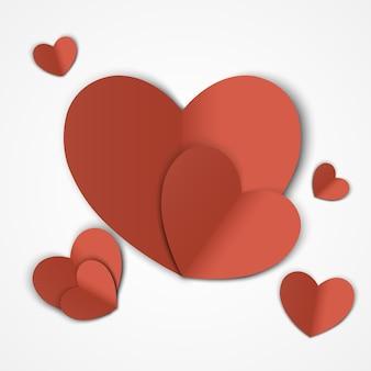 Walentynki. abstrakcjonistyczny tło z cięcie papieru sercem. ilustracja