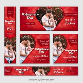 Walentynki baner sieci