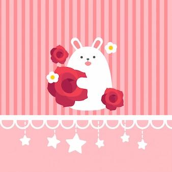 Walentynki baner, tło