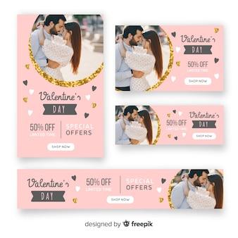 Walentynki banery z fotografii