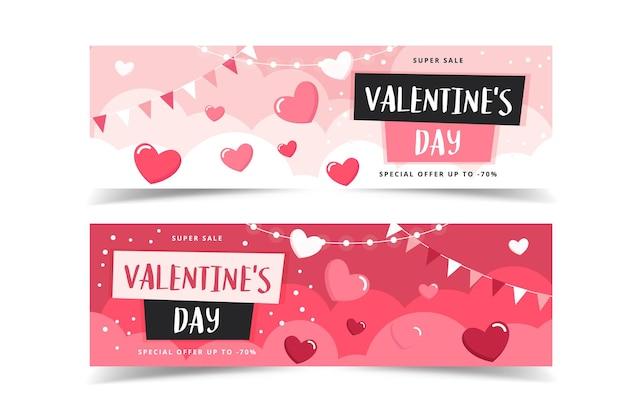 Walentynki banery z serca
