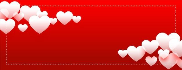 Walentynki celebracja transparent serca