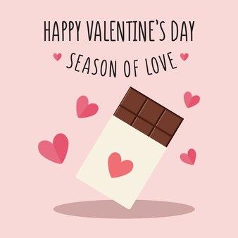 Walentynki chocolatte ilustracja