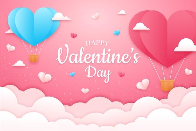 Walentynki-dzień koncepcja tło w stylu papieru