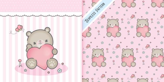 Walentynki-dzień niedźwiedź z sercem