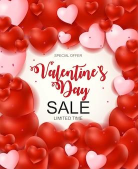 Walentynki-dzień sprzedaży transparent