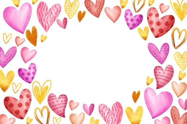 Walentynki-dzień tło w akwareli