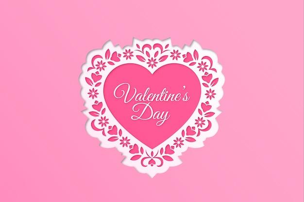 Walentynki-dzień tło w stylu papieru