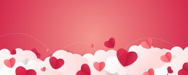 Walentynki-dzień tło z chmurą w kształcie serca.