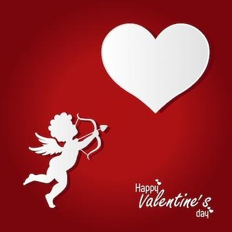 Walentynki-dzień tło z kupidyna