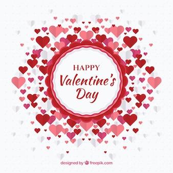 Walentynki-dzień tło z serca