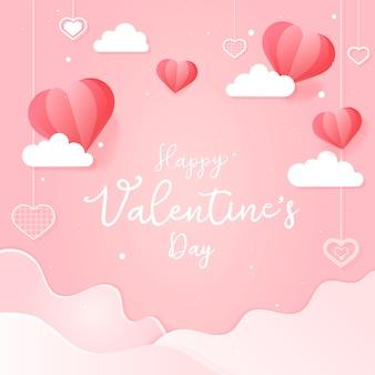 Walentynki karta ilustracja
