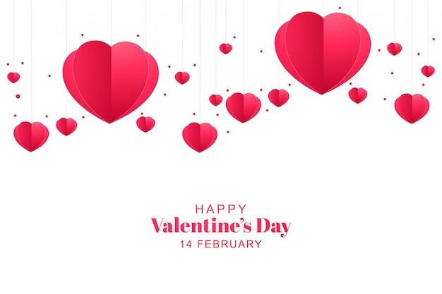 Walentynki kartą serca papieru