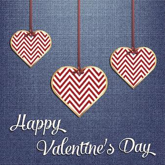 Walentynki karty dla szablonu wakacje z geometrycznej ilustracji serca. kreatywny i luksusowy wzór w stylu
