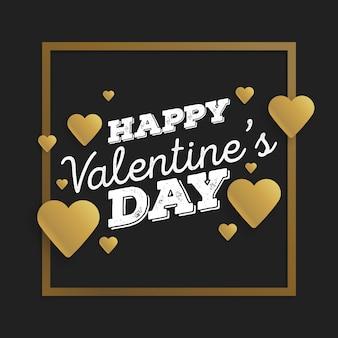 Walentynki karty z cięcia papieru złote serce.