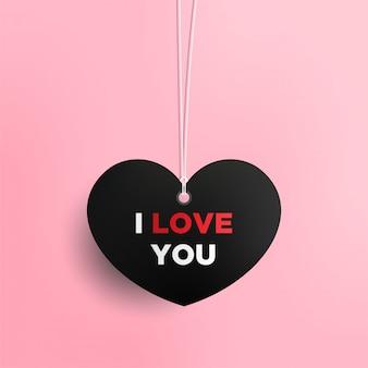 Walentynki karty z serca i miejsce dla tekstu