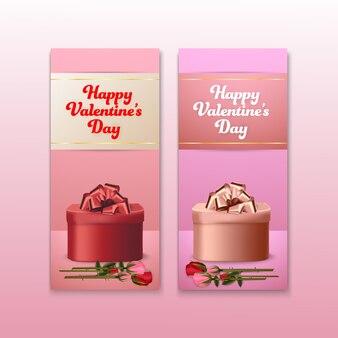 Walentynki karty zestaw transparent tło