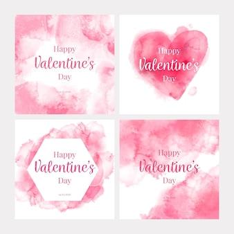 Walentynki kolekcja postów na instagramie