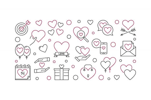 Walentynki konspektu wektor koncepcja ikony