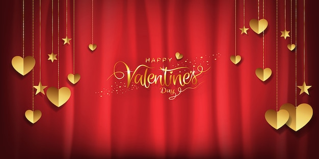 Walentynki luksusowy tło, czerwona złocista tapeta z kopii przestrzenią