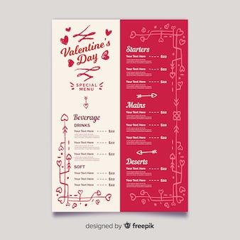 Walentynki menu