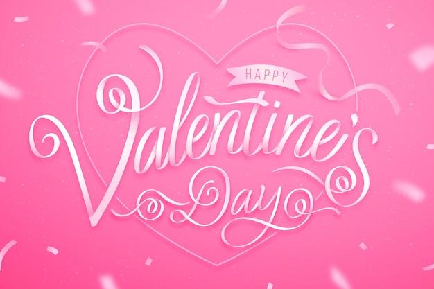 Walentynki napis tło