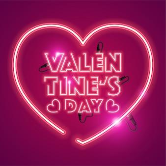 Walentynki neon banner