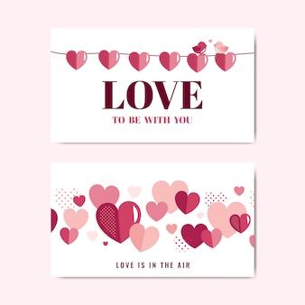 Walentynki ozdoba transparent wektor