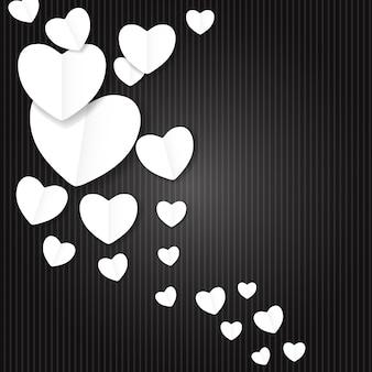 Walentynki papierowe serce backgroung, ilustracja