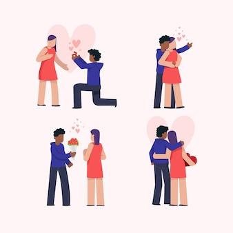 Walentynki para cieszy się uroczego dzień