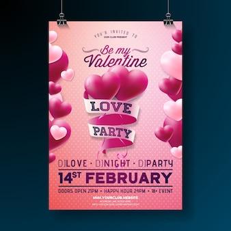 Walentynki party flyer