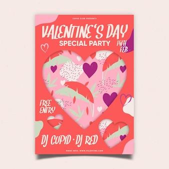 Walentynki party plakat
