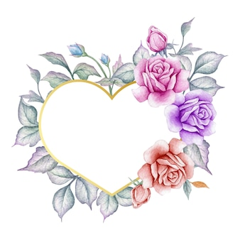 Walentynki piękna karta kwiatowy