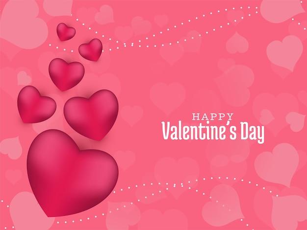 Walentynki piękne tło z różowymi sercami