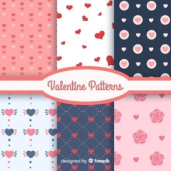 Walentynki płaski wzór kolekcji