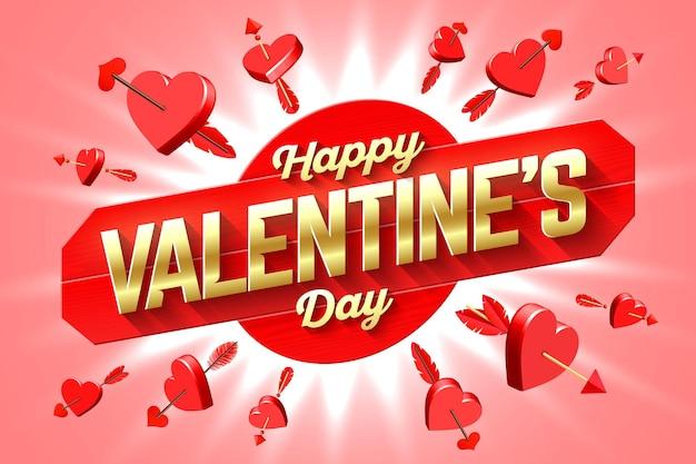 Walentynki pozdrowienie transparent