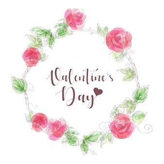 Walentynki ręcznie rysowane ilustracji wektorowych.